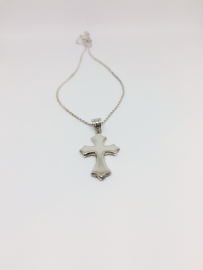 Gothic Style Silver Cross Necklace